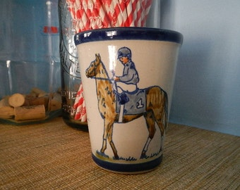 The Seelbach Cup Tumbler Louisville Stoneware Pottery Kentucky Derby Day