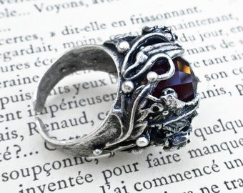 Black Gothic Ring Unisex Ring Adjustable Ring Gothic Jewelry
