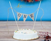 ONE Cake Smash Cake Topper / Photography Prop / Birthday Cake Banner