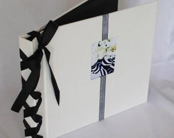 Black and White Photo/Scrapbook Wedding, Anniversary or Bridal Shower Gift