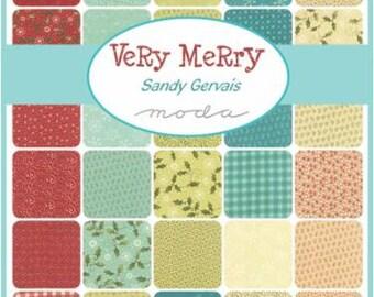 Very Merry Fat Quarter Bundle by Sandy Gervais for Moda - One Fat Quarter Bundle - 17830AB