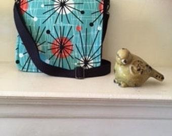 Retro 50's design Messenger Bag/Crossbody bag/Purse/Handbag