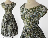 50s Jerry Gilden Spectator Cotton Dress Fit and Flare Rockabilly