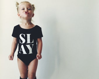 TODDLER LEOTARD - SLAY - Black - Little Girls Leotard