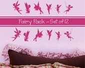 Fairy Wall Decal, Fairies Wall Decal, Fairies Wall Decal,  Girls Wall Decal, Coordinating Fairy Decor, Princess - WD0151AP
