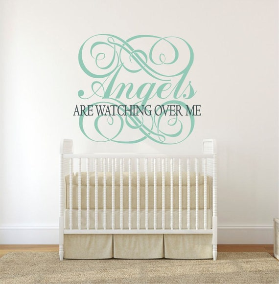 Religious Wall Decor For Nursery : Angels wall decal decor religious nursery