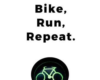 Triathlon Digital Art, Printable Art, Swim, Bike, Run