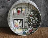 vintage Christmas small plates / coasters - set of 8 - Johnson Brothers