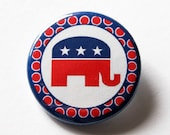 Republican Pin, Election Pin, Pinback buttons, Lapel Pin, Red White Blue, Election Year, US Election 2016, Republican Supporter (5568)