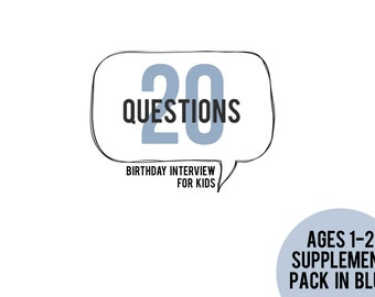 20 Questions Ages 1-2 Supplement Pack in BLUE