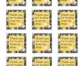 Thank you printable,instant download, thank you, gift tags, stickers,notecards, notes,Etsy stickers, labels, thank you stickers
