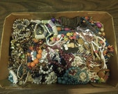 Lot Beaded Necklaces Bracelets for Jewelry Repair Over 4 Ibs Crafts Destash Vintage Antique Beads