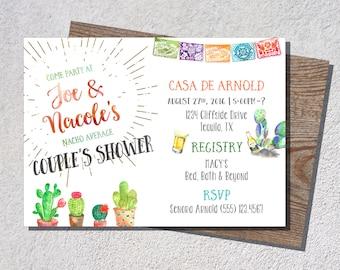 Rehearsal Dinner Invitation, Fiesta Couples Shower, Fiesta Rehearsal Dinner, Mexican Themed Party, Cinco De Mayo, Fiesta