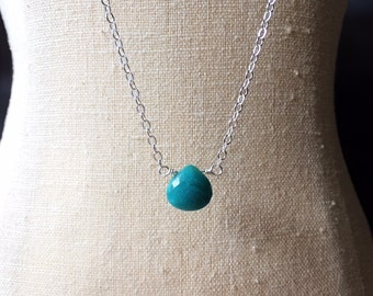 Chrysocolla Necklace, Calming Stone Necklace, Fertility Jewelry, Pregnancy Necklace, Infertility Jewelry, Pregnancy Gift, Layering Necklace