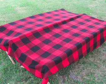 Vintage Buffalo Plaid, Woolrich Blanket, Camp Blanket, All Wool, Made in USA, Perfect Condition, Cabin, Lodge, Northwoods, Hollywood Prop