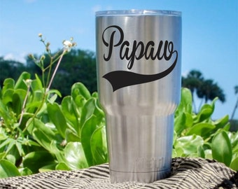 Papaw Decal, Grandfather Gift, Fathers Day Gifts, Fathers Day Gift Ideas, Papaw Gift, Baseball Themed Decals, Gifts for Grandpa