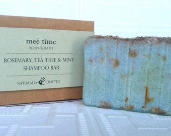 Rosemary, Tea Tree, Mint Shampoo Bar