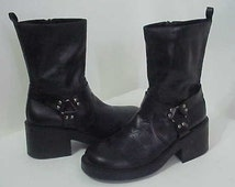 Black Motorcycle Boots  US/9  Esprit Motorcycle Boots