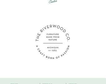 "Pre Made Logo Design - Small Business Logo - ""The Riverwood Co"""