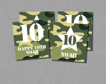 Army Birthday Cupcake Toppers camouflage military MB55 Printable