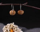Wrapped Stone Hook Earrings (short)