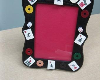 Mahjong Frame using mini Mahjong tiles