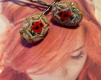Bridal Hair Pins Jewelry Decorative White Micro Mosaic Hairpins Bobby Pins