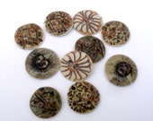 Earth Tones Buttons ,  Button Pairs ,  Neutral Colors ,  Collectors Buttons , Porcelain Sewing Buttons, Button Jewelry Supplies