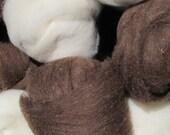 Cormo Lamb Roving - Brown 1 lb
