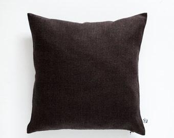 Decorative pillow cover chocolate brown - throw pillows - shams - cushion case - 16x16  0349