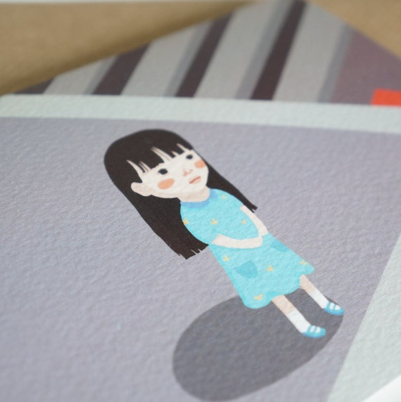 Lily Lost Greeting Card
