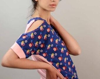 shoulderless top / blouse