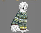 Dogs in Sweaters: A Color-It-Yourself Book for the Discerning Colorist