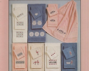 Lucky Duck Designs Bath Towels By Phyllis Dobbs--Cross Stitch