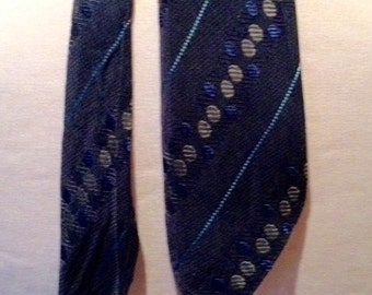 Vintage late 1920s Mens Navy Spotted Necktie
