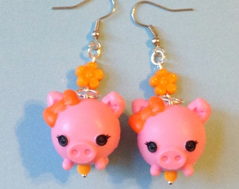 Lalaloopsy Pink Pet Piggies Earrings