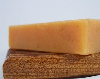 Natural Soap, Calendula Soap, Citrus Calendula: All Natural Handmade Exfoliating Soap with Shea Butter - 120g, SLS & Palm Oil Free Soap