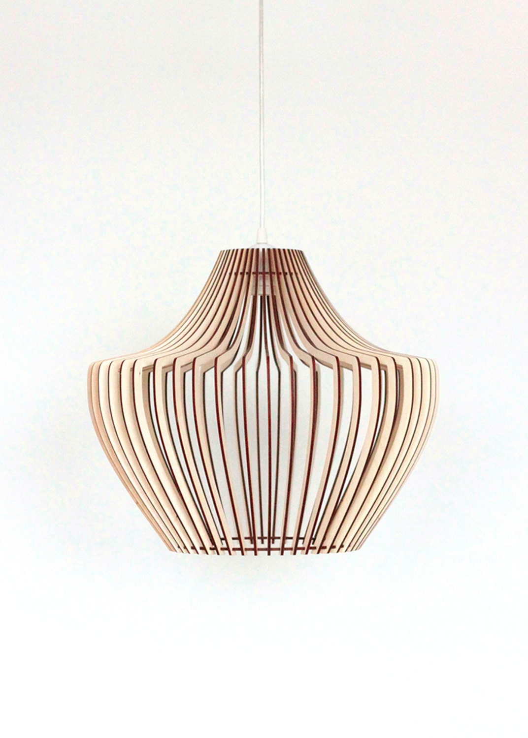Wood Lamp / Wooden Lamp Shade / Hanging Lamp / Pendant Light / Decorative Ceiling Lamp / Modern ...