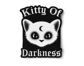 Pastel Goth Kitty Of Darkness Sticker - Soft Grunge Art