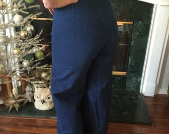 70s Classic Buckle Back High Waisted indigo  Levi's jeans