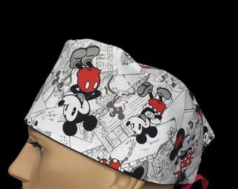 Surgical Scrub Cap - Disney scrub hat - Mickey Mouse Scrub Hat - Mickey Vintage scrub cap - Character scrub hat - Kid's design scrub hat