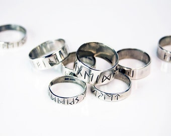 Sterling Silver Made to Order Rune Ring