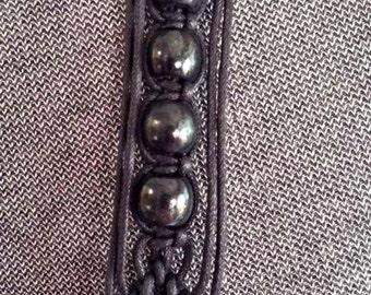 Black Beaded Macrame Hippy BoHo Belt
