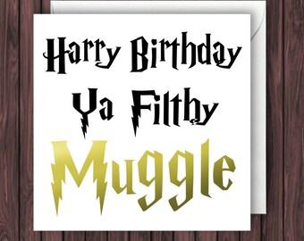 Muggle TimeLord Sherlock Harry Potter Birthday Card