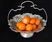 Silver Plated Metal Basket, Silver Plated Bowl with Handle, International Silver Company
