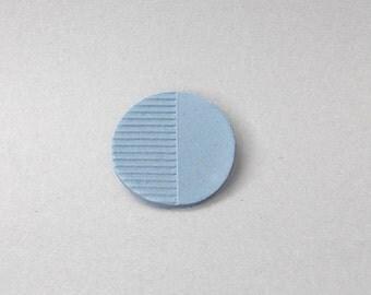 Elegant porcelain brooch, modern jewlery, minimalistic jewellery, blue brooch, modern minimal brooch