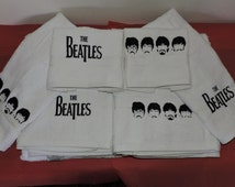 Beatles Embroidered Bath towel hand towel washcloth set