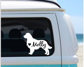 Golden Retriever Decal | Dog Decal |  Car Decal |  Laptop Decal | Golden Retriever | Window Decal | iPad Decal | Notebook Decal | Vinyl