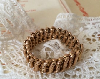 Gold Filled Signed Carmen Expansion Bracelet Sweetheart Bracelet