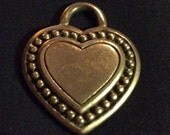 Vintage Judith Ripka Solid Sterling Silver Heart Pendant